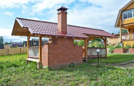 Летняя кухня на даче с печью