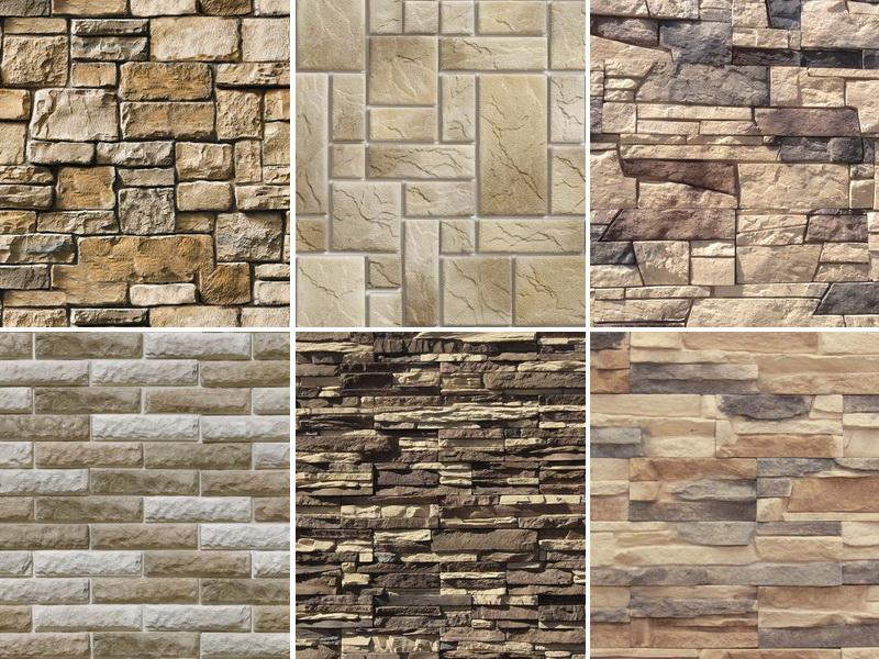 Варианты декоративных камней для отедкли фасада дома