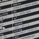 Обзор параметров светодиодных ламп