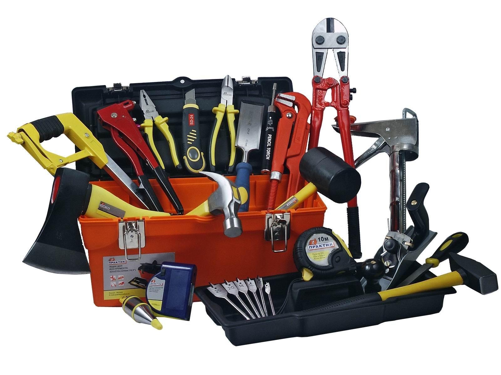 Необходимый набор инструментов для работы