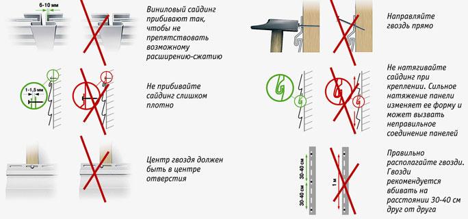 Инструкция по монтажу сайдинга