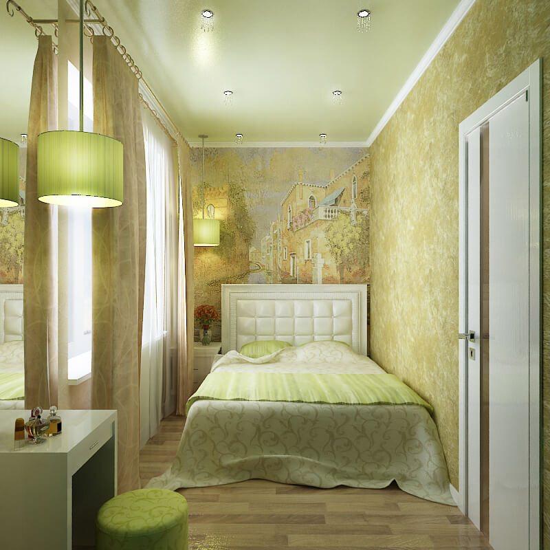 Как оформить маленькую или узкую спальню?